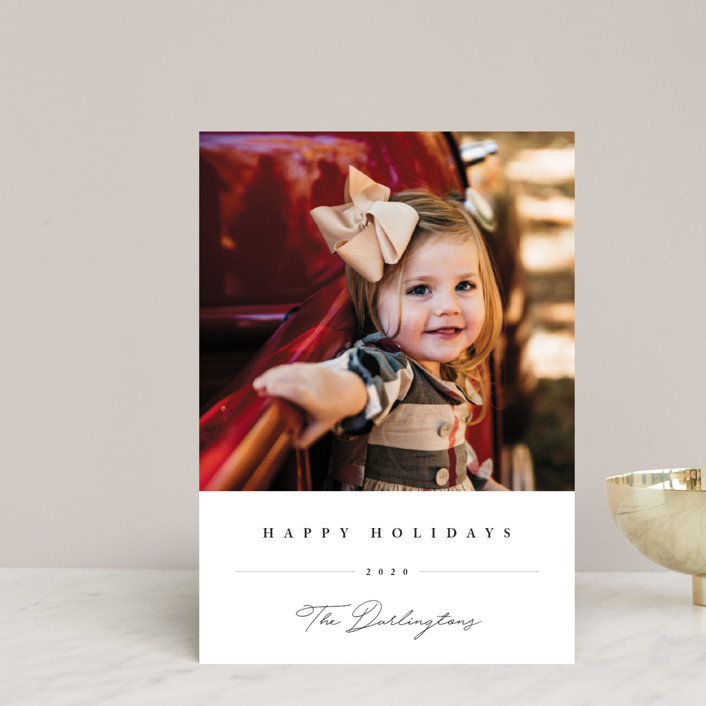 """""""Sweet Signature"""" - Holiday Postcards in Onyx by Chryssi Tsoupanarias."""