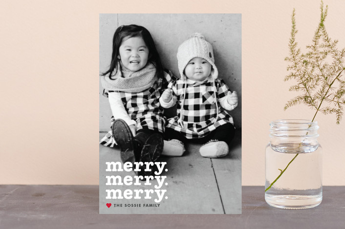 """Merry Times 3"" - Holiday Postcards in Snowflake by Abby Munn."