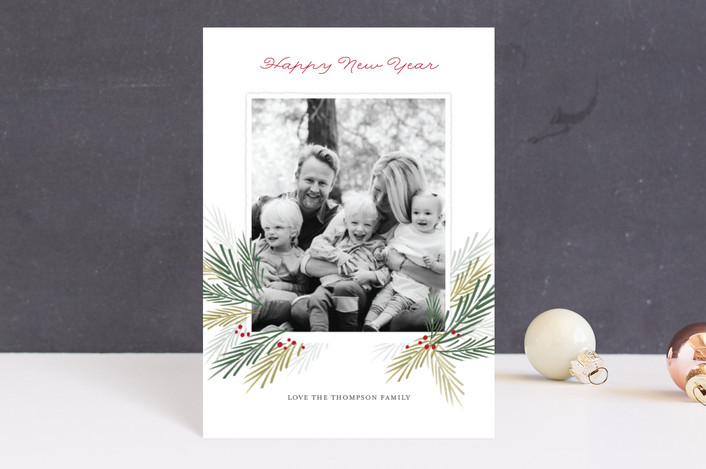 """Pine Boughs"" - Holiday Postcards in Snow by Eric Clegg."