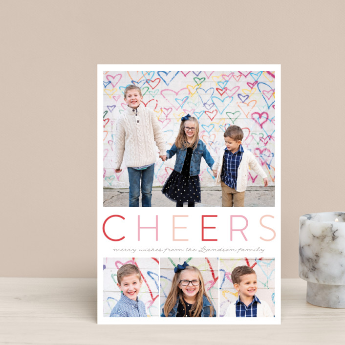 """""""Simple Joyful"""" - Holiday Postcards in Cherry by Petra Kern."""