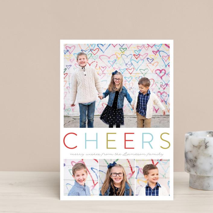 """Simple Joyful"" - Holiday Postcards in Gum Drops by Petra Kern."