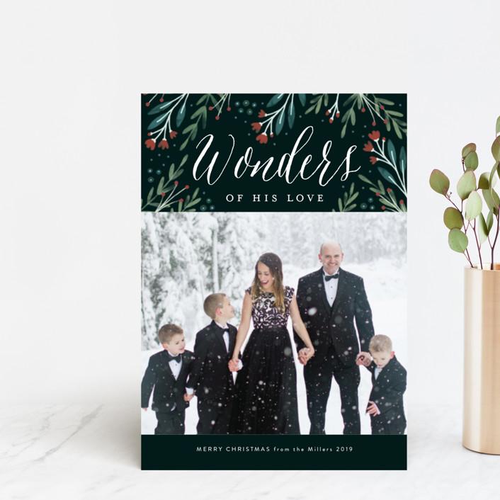 """Floral Wonder"" - Holiday Postcards in Pine by Kelly Nasuta."