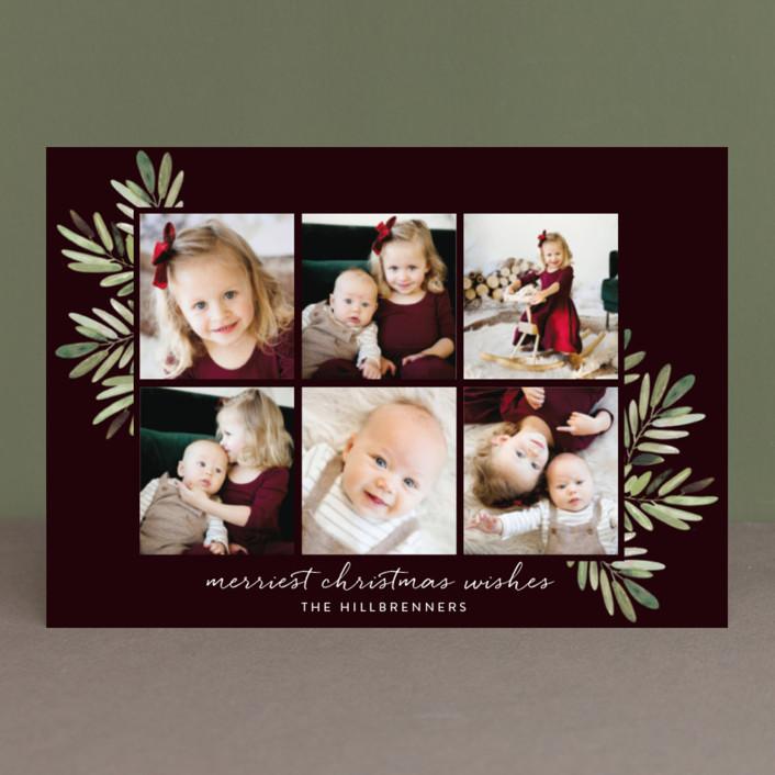 """Al Fresco"" - Holiday Postcards in Merlot by Haley Warner."