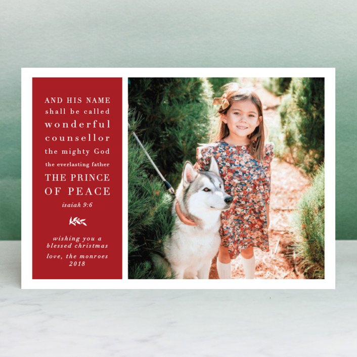 """""""Classic Isaiah"""" - Holiday Postcards in Holly by Amy Payne."""