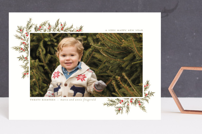 """""""Oh So Very Merry"""" - Holiday Postcards in Holly Berries by Wildfield Paper Co.."""