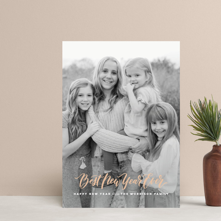 """""""O Come Let Us Adore Him"""" - Holiday Postcards in Peach by Wildfield Paper Co.."""