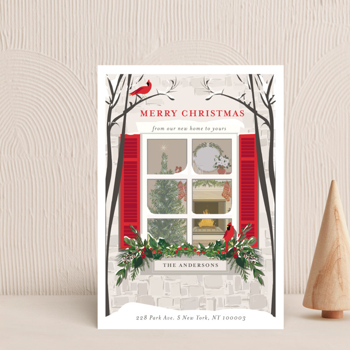 """""""Holiday Window"""" - Holiday Postcards in Pine by Susan Moyal."""