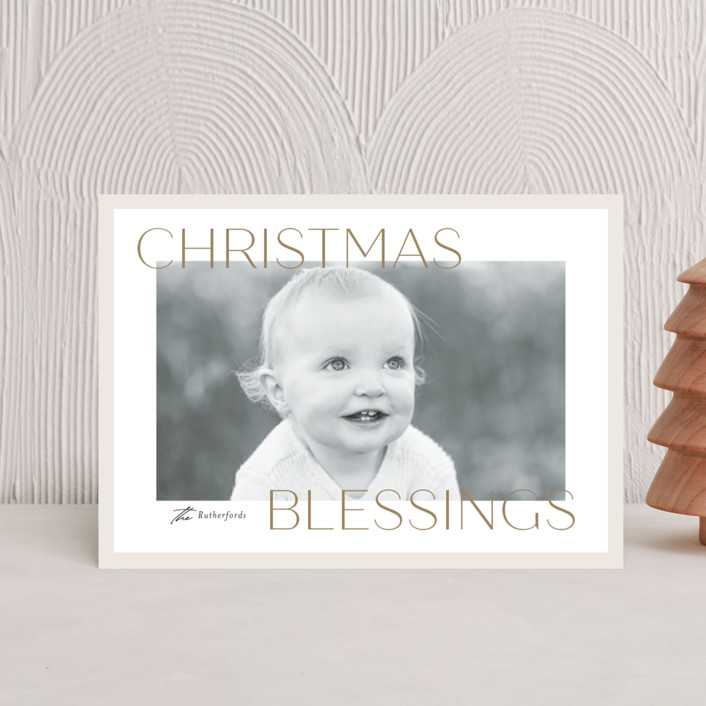 """""""Frosted Blessings"""" - Holiday Postcards in Toffee by Jessica Williams."""