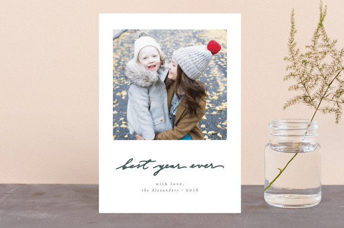 """Believe Simply"" - Holiday Postcards in Wreath by Everett Paper Goods."