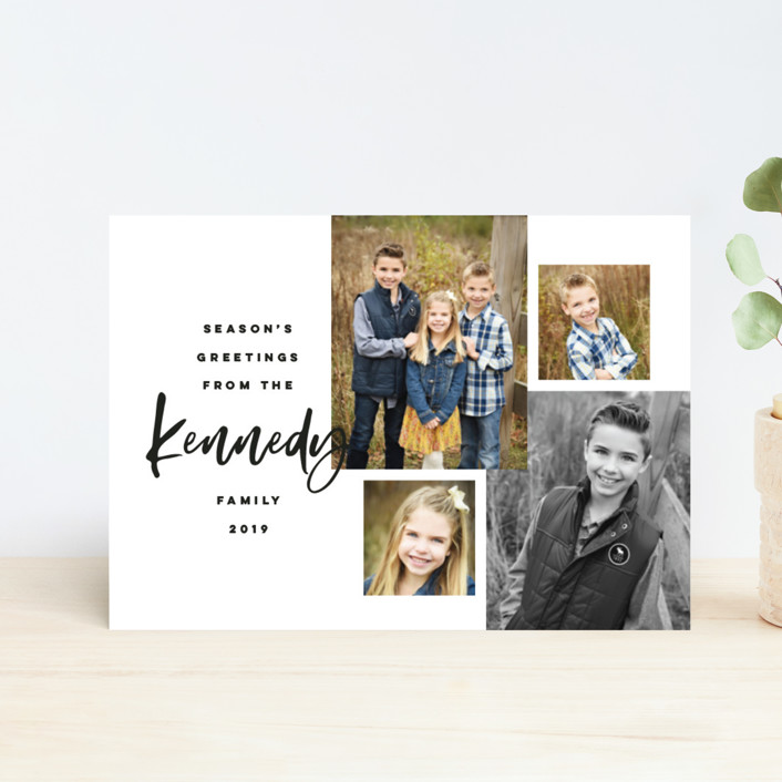 """""""Our Family Photos"""" - Holiday Postcards in Ink by Pink House Press."""