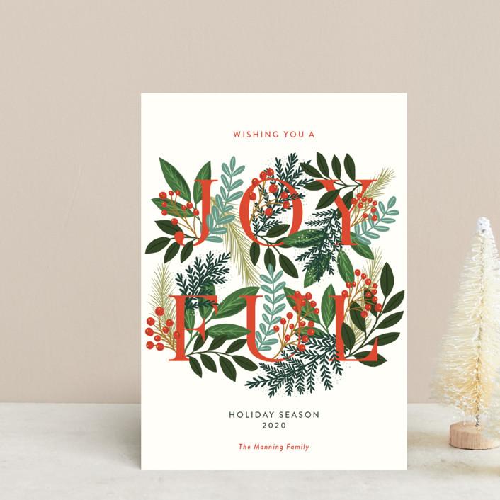 """A Joyful Holiday Season"" - Holiday Postcards in Snow by Yaling Hou Suzuki."