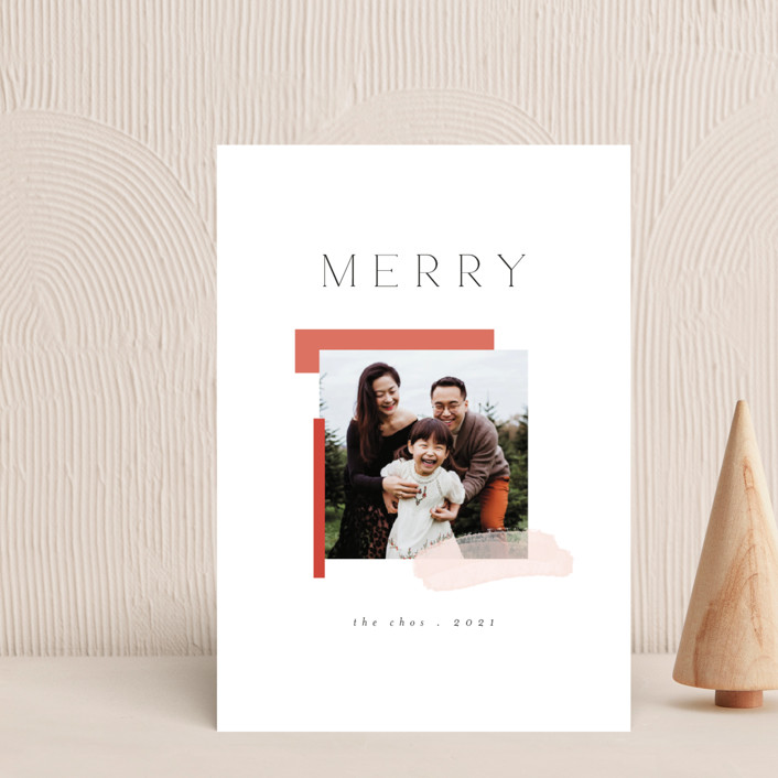 """""""Assemblage"""" - Modern Holiday Postcards in Snow by Morgan Kendall."""