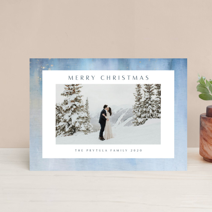 """""""Frosted"""" - Holiday Postcards in Sky by Nicole Walsh."""
