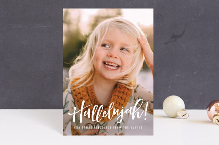 """""""Hallelujah for the Holidays"""" - Holiday Postcards in Snow by Chryssi Tsoupanarias."""