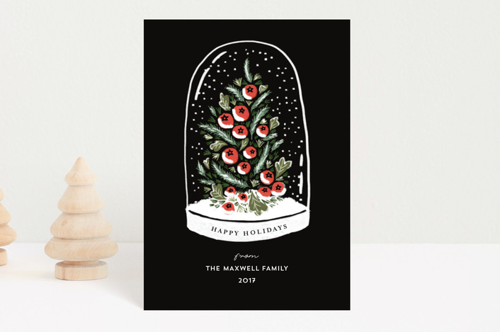 """Winter's Greeting"" - Holiday Postcards in Ink by iamtanya."