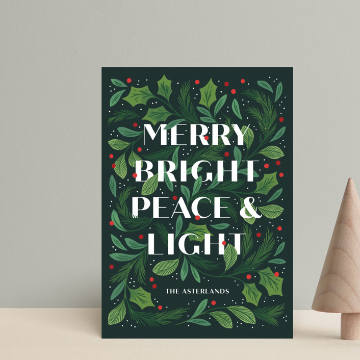 """""""Ensemble"""" - Holiday Postcards in Pine by Paper Raven Co.."""