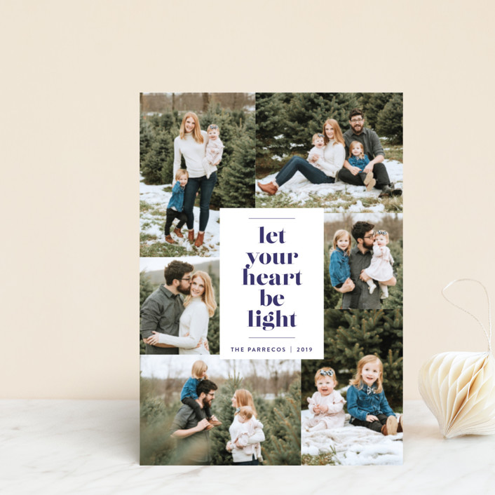 """""""Be Light"""" - Holiday Postcards in Twilight by Design Lotus."""