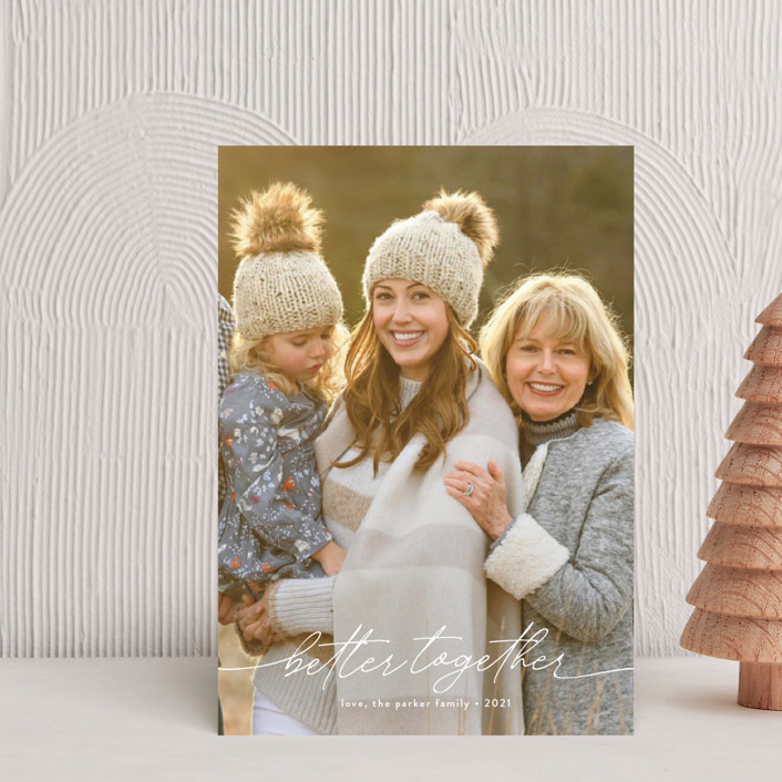 """""""Together Forever"""" - Holiday Postcards in Snow by Robin Ott."""