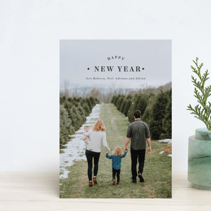 """Merrily Framed"" - Holiday Postcards in Slate by Kasia Labocki."