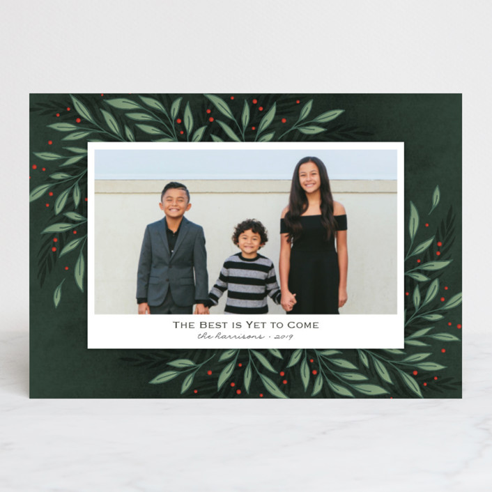 """Classic Greenery"" - Holiday Postcards in Forest by Lorent and Leif."