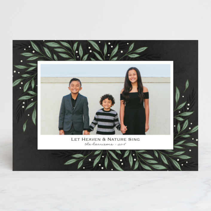 """Classic Greenery"" - Holiday Postcards in Smoke by Lorent and Leif."