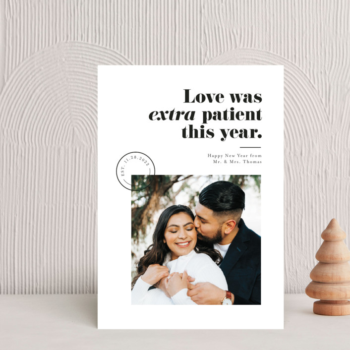 """""""Extra Patient"""" - Holiday Postcards in Snow by Pink House Press."""