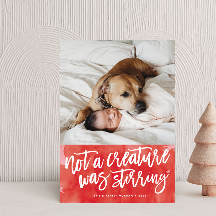 """""""Not a Creature was Stirring..."""" - Holiday Postcards in Holly Berry by Brooke Chandler."""
