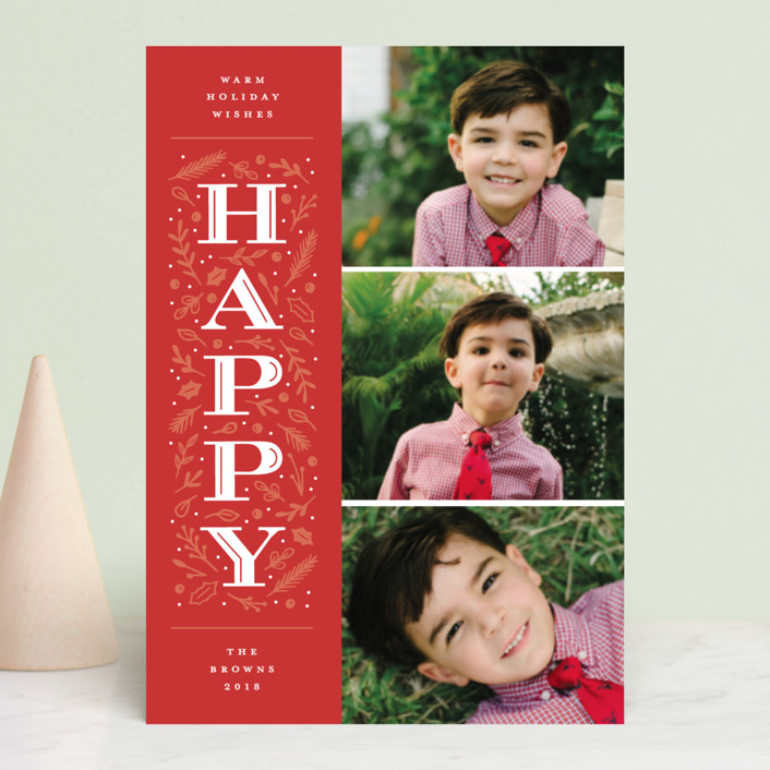 """""""Warm Merry Wishes"""" - Holiday Postcards in Holly by Michelle Taylor."""
