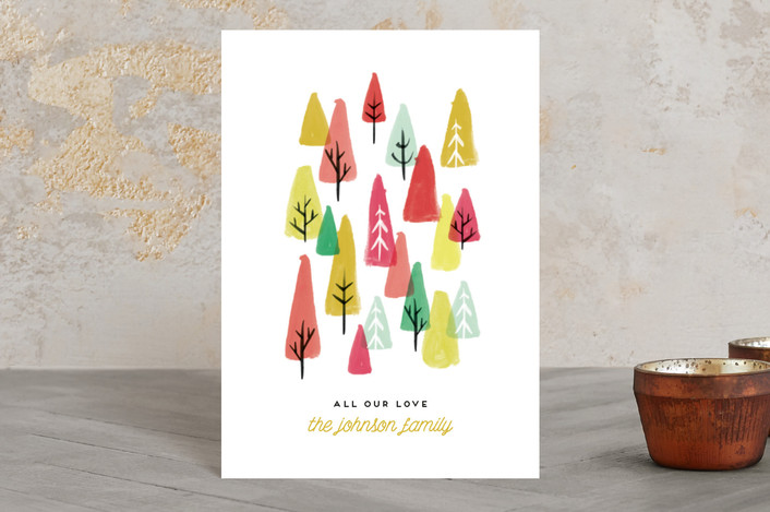 """The Tree Lot"" - Holiday Postcards in Bright by Olivia Kanaley."