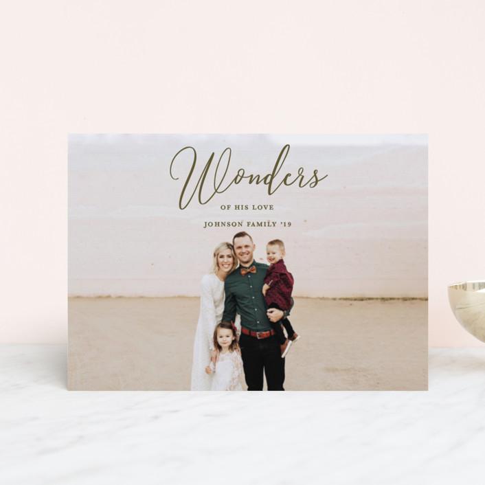 """Great Wonders"" - Holiday Postcards in Olive by Kasia Labocki."