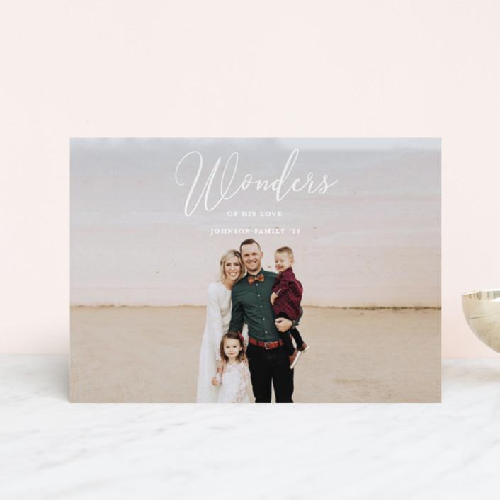 """Great Wonders"" - Holiday Postcards in Snow by Kasia Labocki."