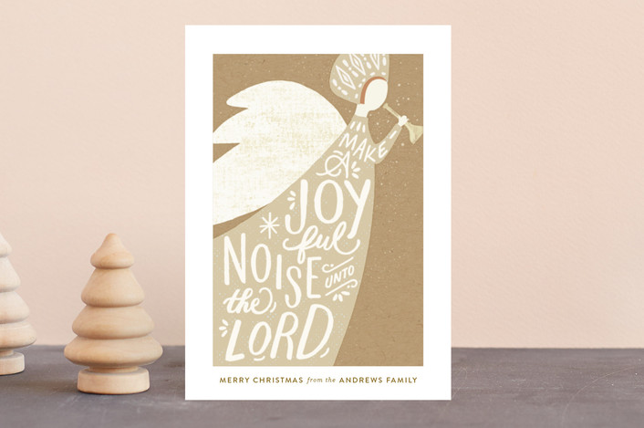 """Joyful Noise"" - Vintage Holiday Postcards in Kraft by Griffinbell Paper Co.."