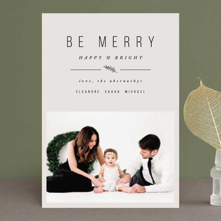 """""""Simple & Merry"""" - Holiday Postcards in Cookie Dough by Pistols."""