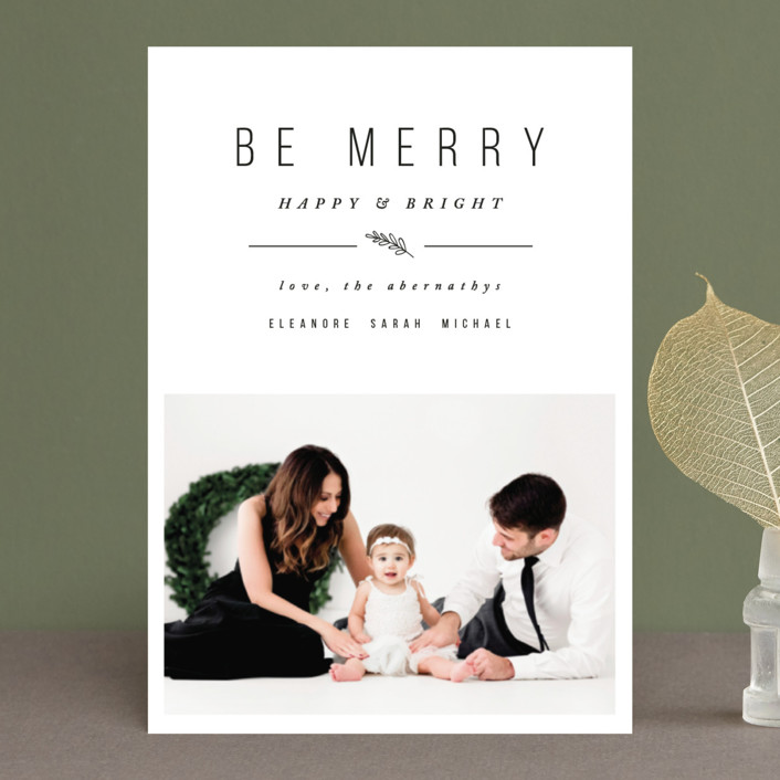 """""""Simple & Merry"""" - Holiday Postcards in Snow by Pistols."""