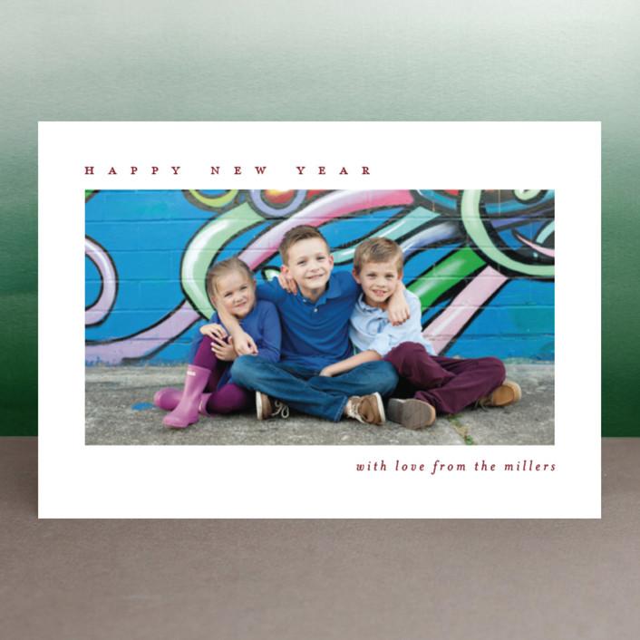 """minimalist holiday"" - Holiday Postcards in Cedar by Julia Hall."