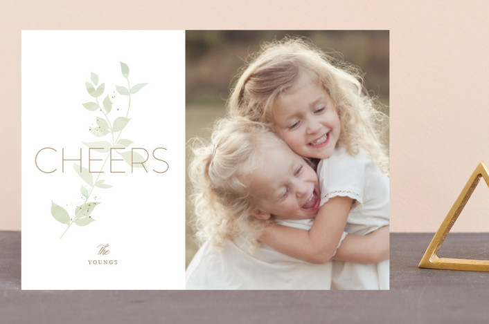 """Peaceful Joy"" - Holiday Postcards in Jade by Jennifer Postorino."