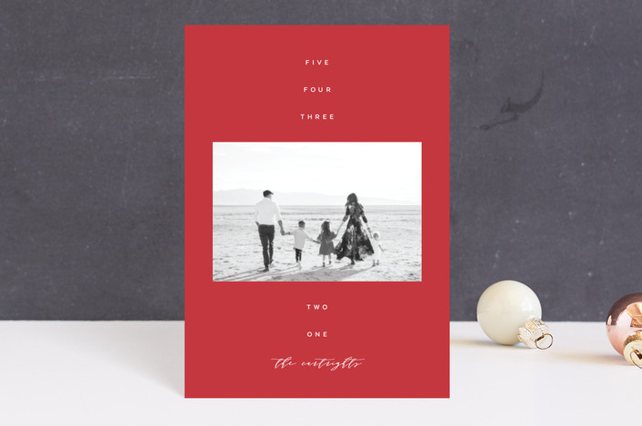 """""""His Name"""" - Holiday Postcards in Cranberry by The Carillos."""