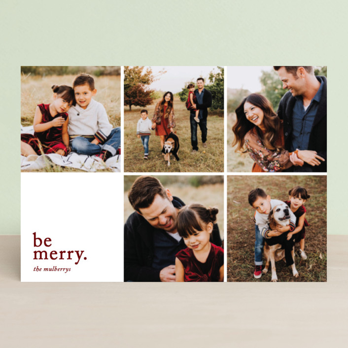 """""""Merriment squared"""" - Holiday Postcards in Wine by Jessica Ogden."""