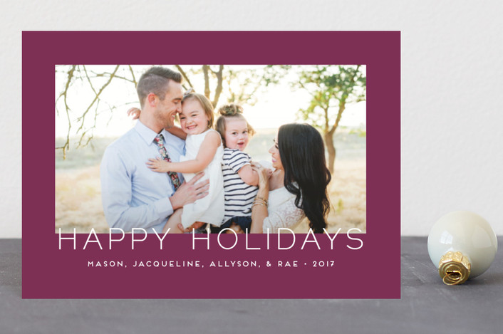 """Minimalistic Chic"" - Holiday Postcards in Plum by jomolo."