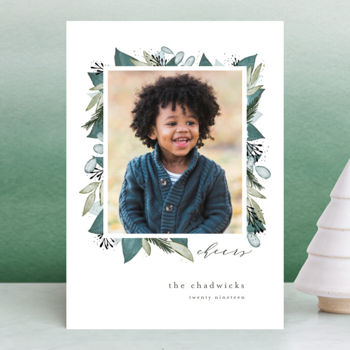 """""""Wintery Blooms"""" - Holiday Postcards in Ice by Leah Bisch."""