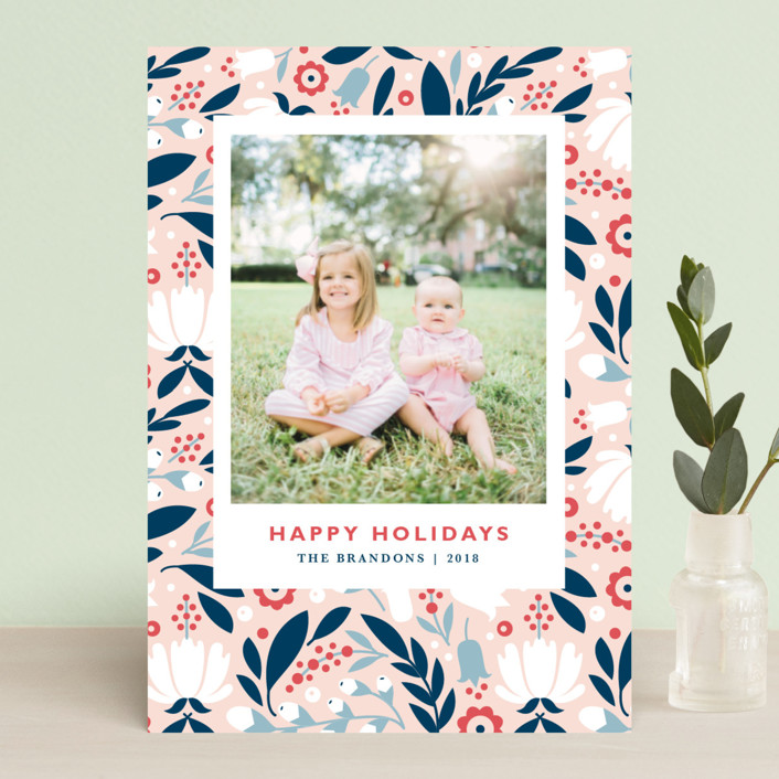 """""""Mod Flor"""" - Holiday Postcards in Wildflower by Kristen Smith."""
