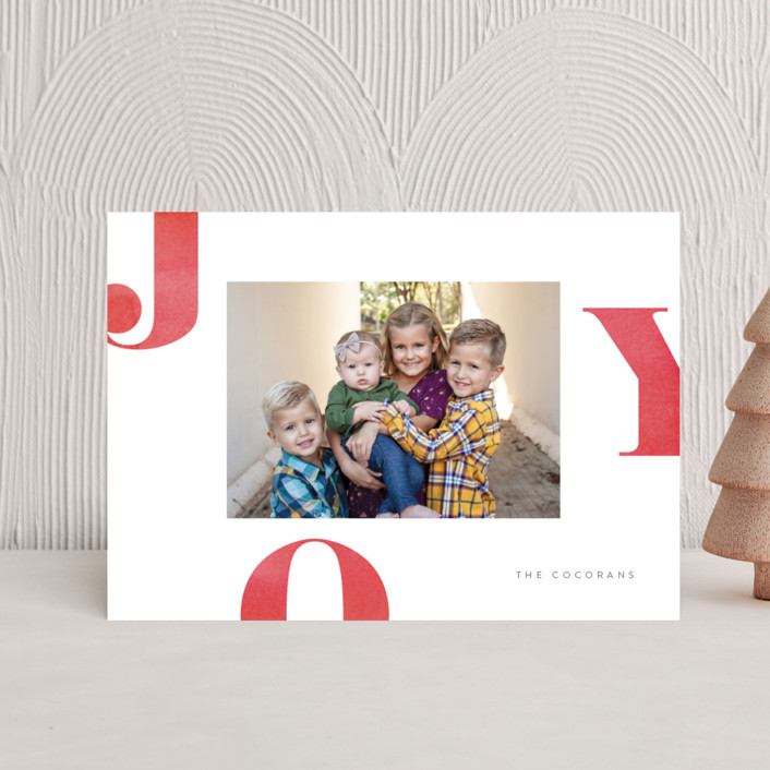 """""""Letters of Joy"""" - Holiday Postcards in Cherry by Jessica Maslyn."""