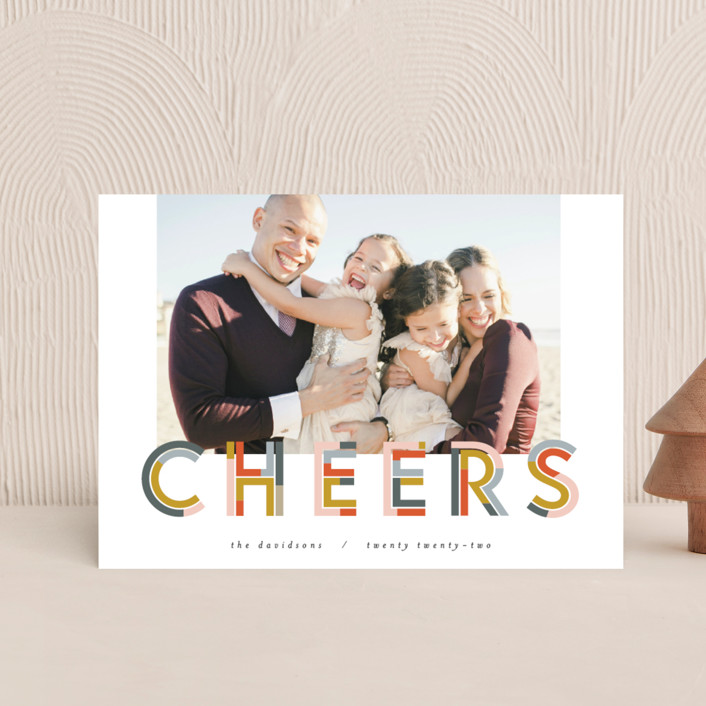 """""""Chunk Cheers"""" - Holiday Postcards in Party by Pixel and Hank."""
