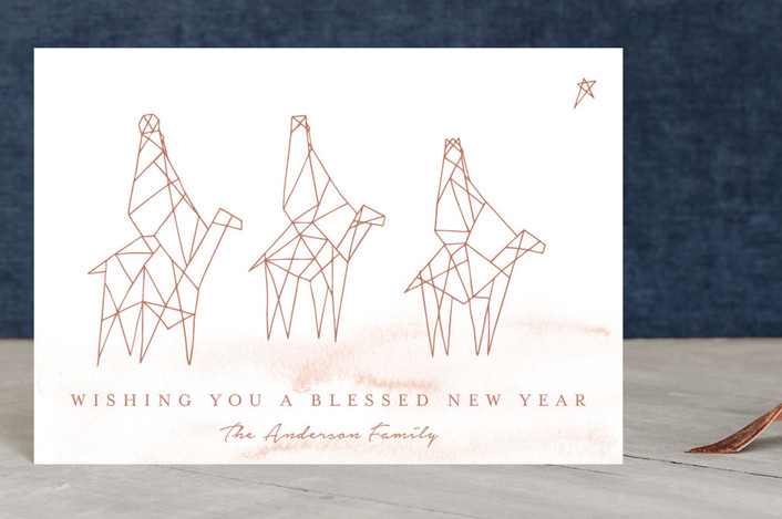 """Reyes Magos"" - Holiday Postcards in Nutmeg by Belia Simm."