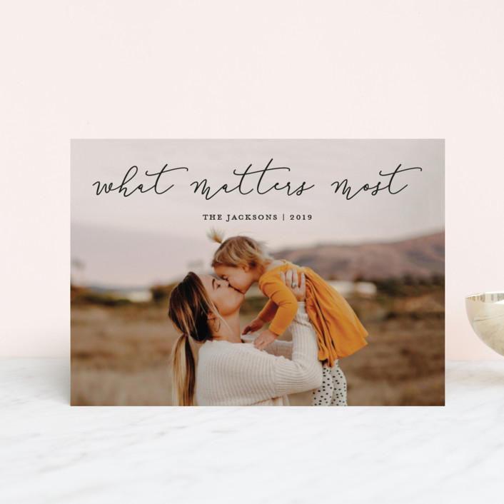 """""""What Matters Most"""" - Holiday Postcards in Noir by annie clark."""