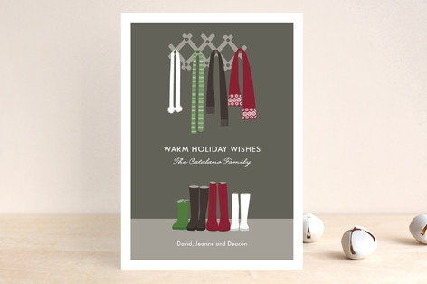 Warm Winter Scarves Holiday Postcards