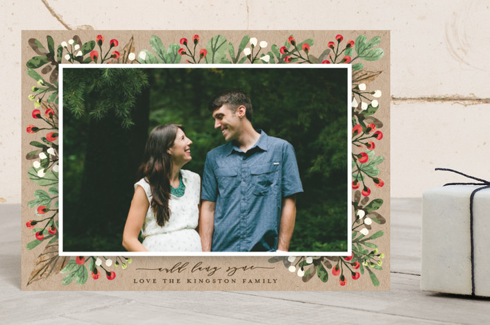 """All Decked Out"" - Holiday Postcards in Natural by Michelle Poe."
