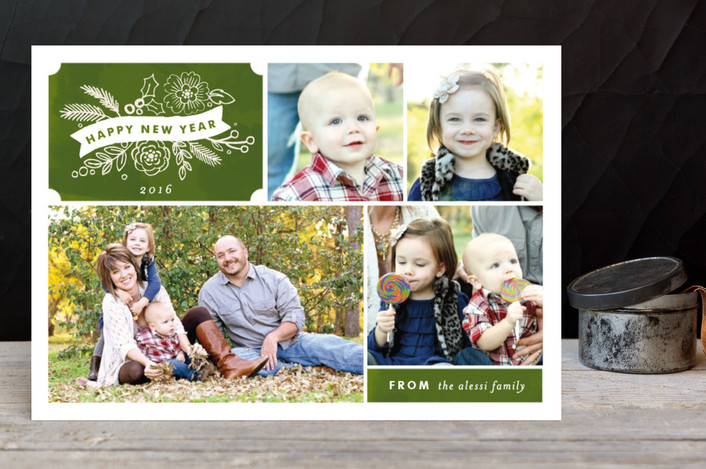 """""""Chalkboard Label"""" - Holiday Postcards in Pine by Alethea and Ruth."""