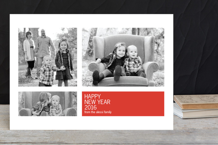 """Modern Geometric Group"" - Holiday Postcards in Petal Red by Precious Bugarin Design."