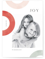 This is a red christmas postcard by Kristie Kern called Sorbet with standard printing on signature in postcard.